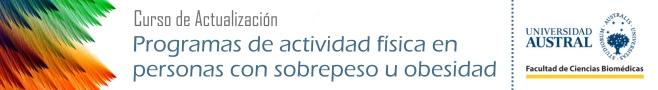 Curso Universitario: Programas de actividad física en personas con sobrepeso u obesidad