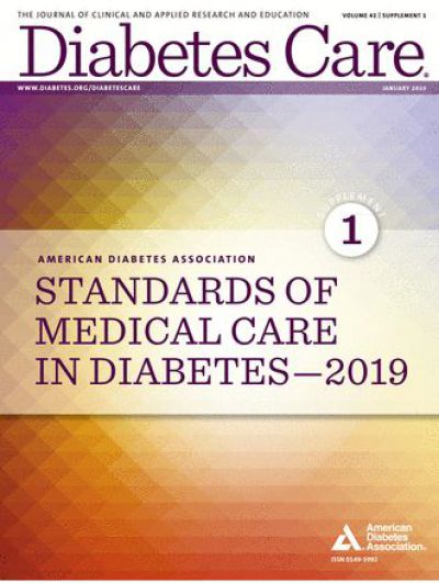 Standards of Medical Care in Diabetes—2019