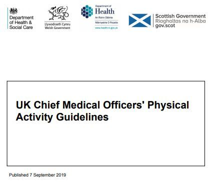 Physical activity guidelines: UK Chief Medical Officers' report