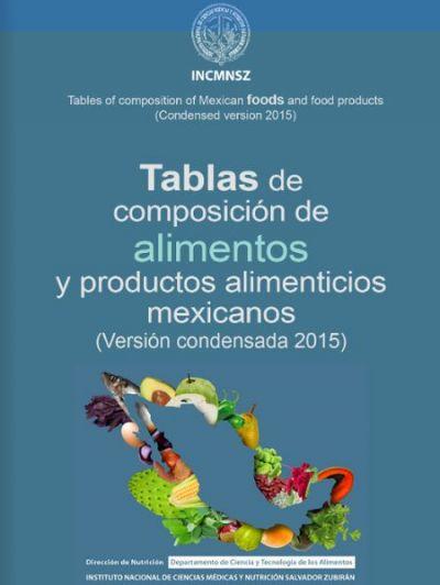 Tablas de composición de alimentos y productos alimenticios de México