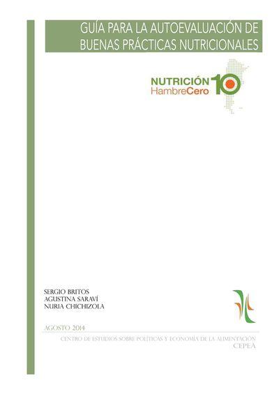 Guía de Autoevaluación de Buenas Prácticas Nutricionales de Nutrición10 HambreCero
