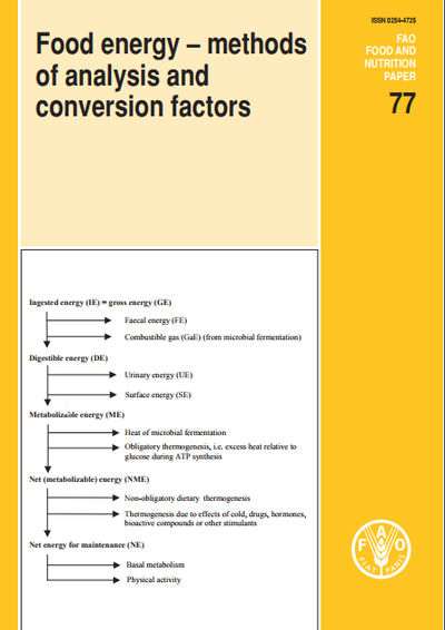 Food energy - methods of analysis and conversion factors