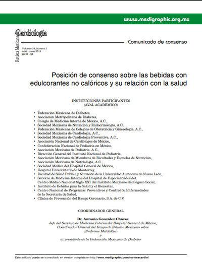 Posición de consenso sobre las bebidas con edulcorantes no calóricos y su relación con la salud