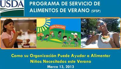 Seminario en Español del Programa de Servicio de Alimentos de Verano