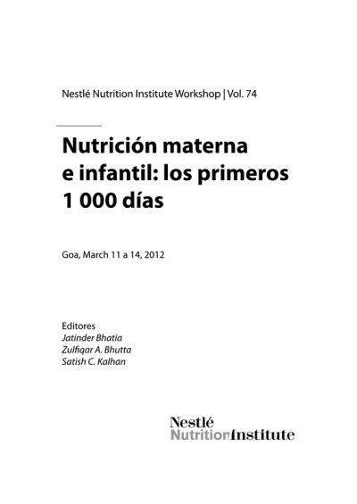 Nutrición Materna e infantil: los primeros mil días